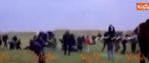 Battesimo di sangue per l'ambasciata Usa. Strage di palestinesi (video)