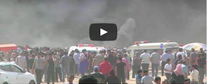 Scontri a Gaza, 59 vittime palestinesi: tra loro una neonata. Israele all'erta (Video)