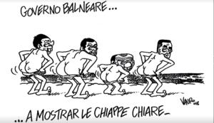 Vignetta di Vauro sul Fatto (Fb)