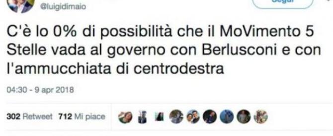 Di Maio improvvisamente fa il gentile con Berlusconi: «Non è colpa sua…»