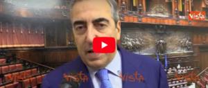 Gasparri: «Forza Italia giudicherà i fatti di volta in volta, ma dall'opposizione» (video)