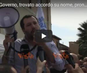 """Salvini """"chiama"""" la Meloni: """"Starebbe bene nel nostro governo col M5S"""" (video)"""