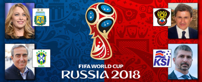 Mondiali senza Italia. A destra i politici tifano Argentina o Russia. E Islanda