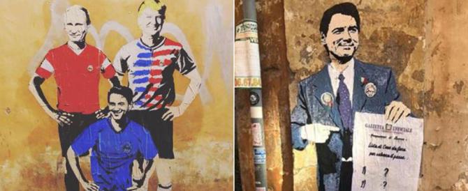 A Roma spuntano altri due murales politici. Stavolta è toccato a Conte