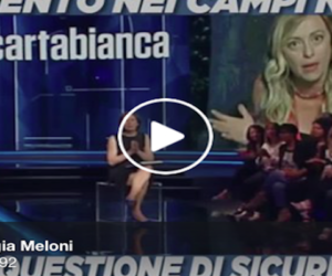 Meloni: «I rom devono rispettare le regole come le rispettano gli italiani» (video)
