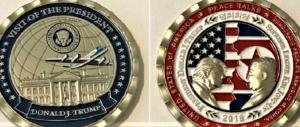 Pronte le monete celebrative del vertice sull'isola tra Kim e Trump