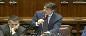 Conte ribadisce: avanti tutta su Ue, migranti e flat tax. Gazzarra in aula del Pd