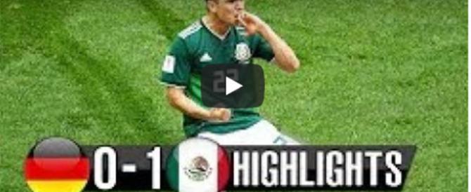 Mondiali, clamoroso ko della Germania. Lo storico gol del Messico (video)