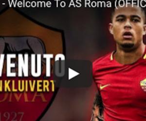 Serie A: la Roma presenta Kluivert, figlio d'arte col vizio del goal (video)