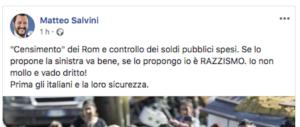 «Anche Pisapia propose il censimento dei rom»: Salvini sbugiarda la sinistra (video)