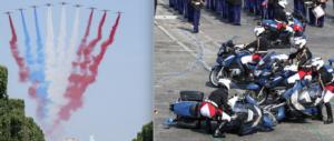 Parata delle gaffes per Macron: tricolore sbagliato e scontro tra moto (video)