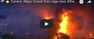 Atene brucia, fuga dalla città: decine di vittime. L'Italia invia i Canadair (video)