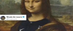 La Gioconda in maglia francese, il web furioso con il Louvre: risposte al vetriolo