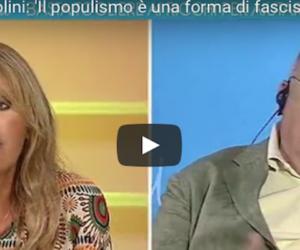 «Fate schifo»: delirio Cazzola contro la Mussolini: lei lo umilia così (video)