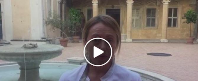 Meloni: i radical chic vogliono l'accoglienza sì, ma solo a Tor Sapienza… (video)