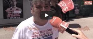 Ronaldo, protesta a Pomigliano. Gli operai: «Pagato con i soldi che levano a noi» (video)