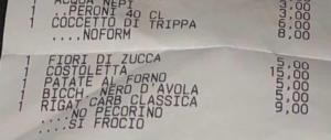 «No pecorino, sì froc…»: scontrino omofobo in un ristorante di Roma