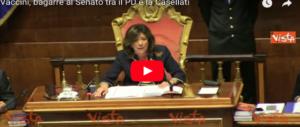 La Casellati ridicolizza il Pd al Senato: «È meglio se tornate a scuola» (video)