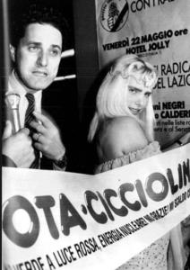 Ilona Staller con Francesco Rutelli