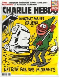 copertina Charlie Hebdo su crollo ponte