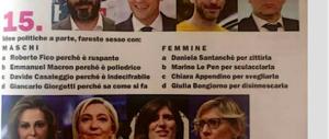 Sexy sondaggio dell'Espresso: fareste sesso con Fico? Sculaccereste la Le Pen?