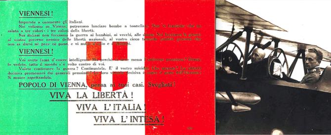 """Cento anni fa il folle volo su Vienna di D'Annunzio fu """"presagio di vittoria"""" (video)"""