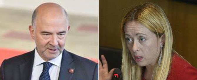 Di Maio a Moscovici: «Inaccettabile». Meloni: «Se insiste, leviamo il disturbo» (video)