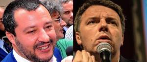 Salvini disintegra Renzi: «Rassegnati, sei un poltronaro amico dei banchieri»