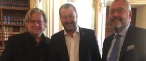 Attenti a quei due: Salvini rivede Bannon e aderisce alla fondazione anti-Soros