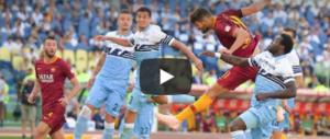 Pellegrini, Kolarov e Fazio puniscono la Lazio: il derby va alla Roma (video)
