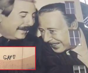 """Gay Pride a Palermo, imbrattato con simbolo """"omo"""" il murales di Falcone e Borsellino (video)"""