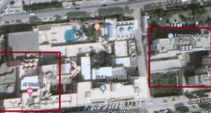 Hotel e Ambasciata distano pochi metri: colpendo l'hotel i terroristi hanno solo mancato il bersaglio
