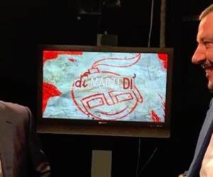 Salvini nel salotto rosso di Floris: l'accoglienza da stadio che non ti aspetti (video)