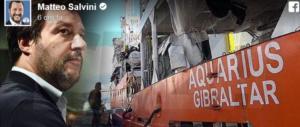 Aquarius, iscrizione revocata da Panama. E le Ong se la prendono con Salvini