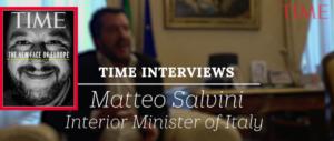 Il Time mette Salvini in copertina: «Il volto nuovo dell'Europa» (video)