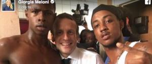 Meloni posta la foto-scandalo di Macron: boom di commenti e condivisioni