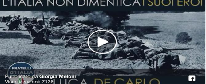Grande Guerra, FdI non dimentica gli eroi italiani: l'intervento in Aula (video)