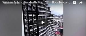 Morte in diretta sul web: si sporge dal 27esimo piano per un selfie e precipita nel vuoto (VIDEO)