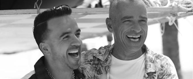 """Eros Ramazzotti duetta con Luis Fonsi, l'artista di """"Despacito"""" (video)"""