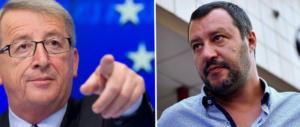 Salvini e Juncker, è ancora scontro. Il vicepremier: «Lui e Moscovici ci hanno rovinato»
