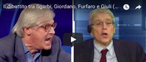 «Taci oca…Sei un deficiente»: Sgarbi a CartaBianca attacca Giordano alla giugulare (VIDEO)
