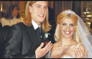 Wanda Nara nel giorno delle nozze con Maxi Lopez