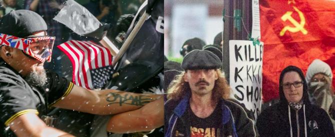 """Usa, attivisti pro-Trump bastonano gli """"antifa"""" (video)"""