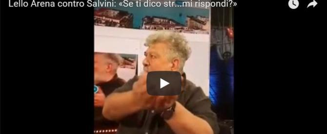«Vaff…»: Lello Arena al delirio contro Salvini in diretta tv su La 7 (video)