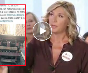Roma: la giornalista denuncia il netturbino che prende il caffè, il web la insulta (video)