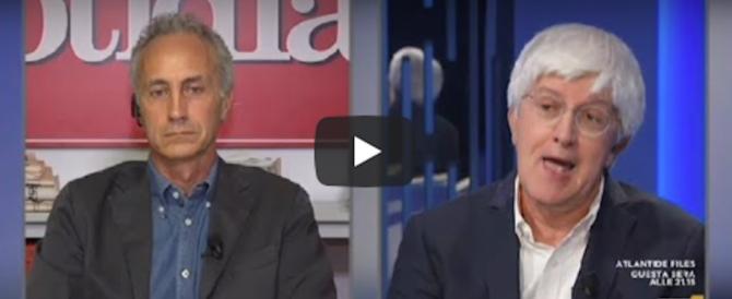 Travaglio litiga con Severgnini: «Io col governo? Falso. Tu stavi con Renzi!» (video)