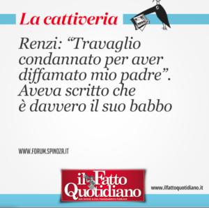 La battuta su Renzi campeggia in home page