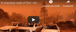 Apocalisse di fuoco in California, 31 morti, 228 dispersi: continua l'esodo biblico (video)