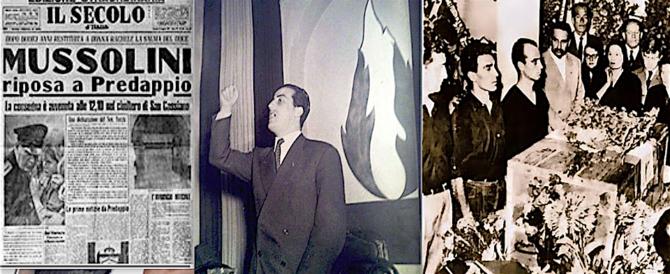 """Dieci anni fa moriva Domenico Leccisi: """"Con Mussolini prima e dopo la morte"""""""