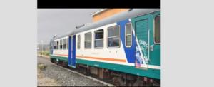 Il treno investito dalla tromba d'aria